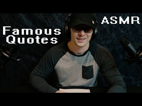 Famous Quotes to Relax You  Softy Spoken + Whispers  Crinkles  {ASMR}