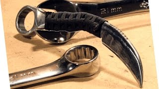 Video How to Make: RAZOR SHARP Knife From a Wrench (Karambit) MP3, 3GP, MP4, WEBM, AVI, FLV Mei 2018