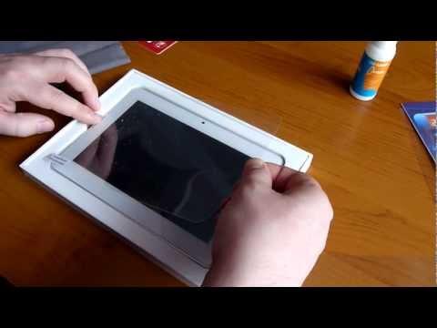 Как сделать плёнку на планшет