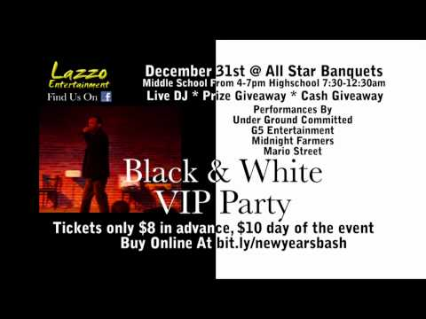 The Fox TV Commercial for the Black & White New Years Eve Party