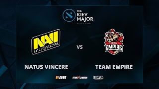 Na'Vi vs Empire, Game 1, The Kiev Major CIS Main Qualifiers Play-off