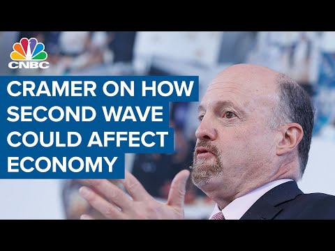 Jim Cramer on how a resurgence in Covid-19 cases could affect the U.S. economy