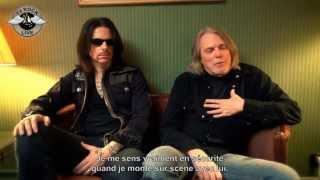 Black Star Riders - Interview Ricky Warwick & Scott Gorham - Paris 2013