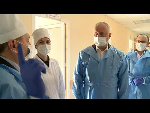 Președintele țării a efectuat o vizită de inspectare la Spitalul feroviarilor