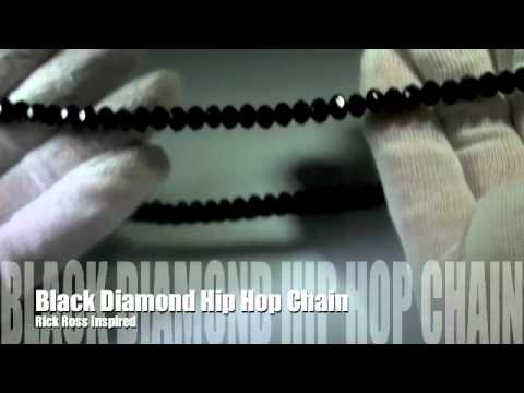 Rick Ross Solid Black Diamond Chain