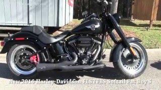 10. Black 2016 Harley Davidson FLSTFBS Fat Boy S Arlen Ness Exhaust