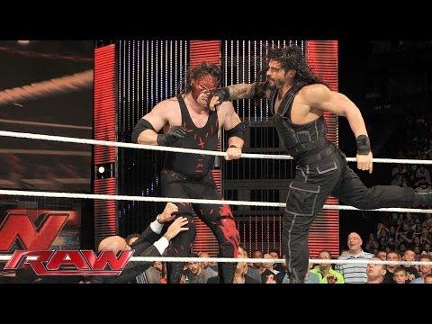 Roman Reigns sparks massive brawl with Kane: Raw, July 7, 2014