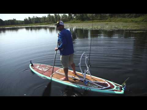 Stand Up Paddle Board Weedline Wackfest for Largemouth – Dave Mercer's Facts of Fishing THE SHOW
