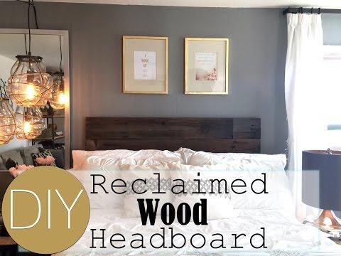 Reclaimed wood headboard design