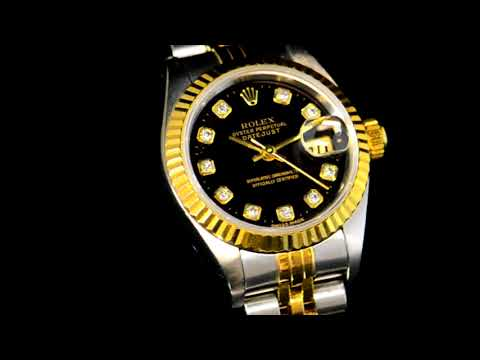 Lady's Stainless Steel/18k Yellow Gold Rolex Datejust Automatic Wristwatch