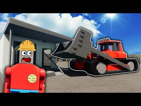 Idiots DESTROY Houses and Race Lego Bulldozers! - Brick Rigs Multiplayer Gameplay
