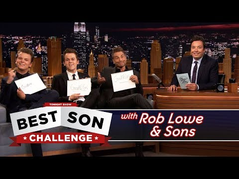 Best Son Challenge with Rob Lowe and His Sons