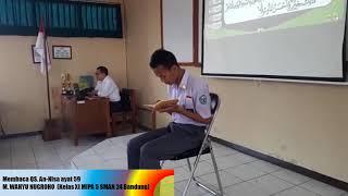 Tilawah Al-Qur'an Surah An-Nisa ayat 59. SMAN 24 Bandung 2018