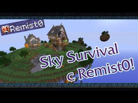 Minecraft. Sky Survival. Бутерброд с маслом!