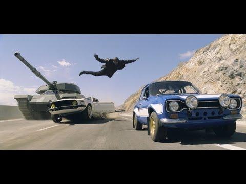 「玩命關頭6」真是越玩越大阿,連坦克車都開出來飆車!
