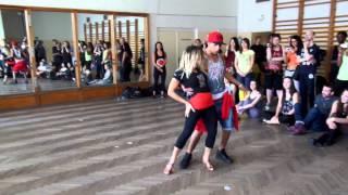 Jefferson Dadinho&Aline Cleto RnB Brazilian Zouk Dance Demo 2, Prague Zouk Congress, March 2014
