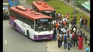Bus pushes anxious passengers