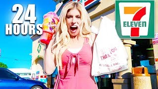 Video We only Ate 7-Eleven Food For 24 hours MP3, 3GP, MP4, WEBM, AVI, FLV Desember 2018