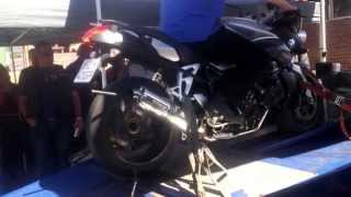 5. BMW K1200R Dyno top Speed and 1/4 Mile run