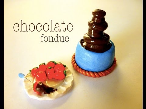 MINI CHOCOLATE FONDUE – Polymer Clay Tutorial