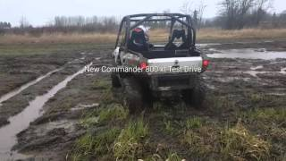 4. Testing New Can Am Commander XT 800 2015