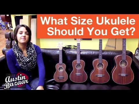 Concert Ukulele - Ukuleles for sale here: http://www.austinbazaar.com/folk-bluegrass-instruments/ukuleles.html?utm_source=youtube&utm_medium=description&utm_campaign=uke-guide-1_A In this video we discuss the...
