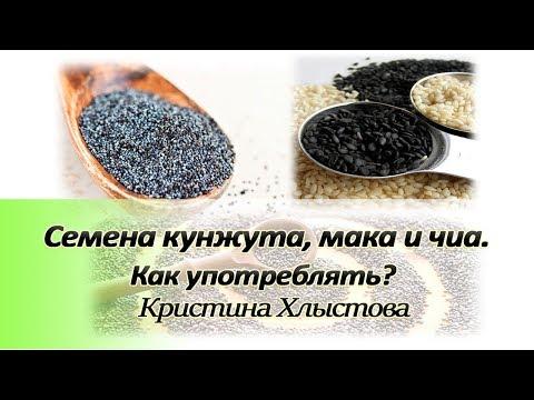 Семена кунжута, мака и чиа. Как употреблять? | Кристина Хлыстова