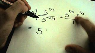 Negative Exponents and Fractional Exponents - Examples