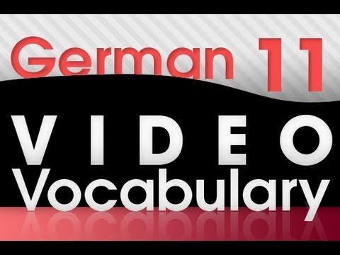Learn German – Video Vocabulary #11