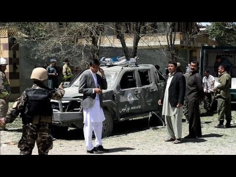 Kabul - A bomb targeting a prominent lawmaker in Kabul kills at least three civilians and wounds 24 other people. Duration: 00:37.
