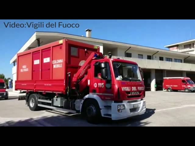 24/08/2016 - Terremoto fra Lazio e Marche, i Vigili del Fuoco di Treviso partono in aiuto