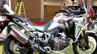 10. 2017 Honda Africa Twin White Black Exclusive Features Edition First Impression Walkaround HD
