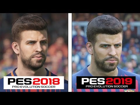 Pro Evolution Soccer | 2018 vs 2019 | 4K Graphics Comparison