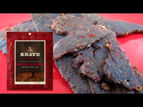 Krave Garlic Chili Pepper Beef Jerky Review | Armadillo Pepper