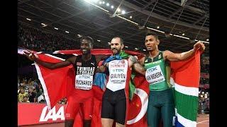 Ramil Guliyev shocks Wayde van Niekerk to win 200m title at IA...