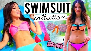 Swimsuit Collection 2015! Trying on Bikinis | Niki and Gabi - YouTube