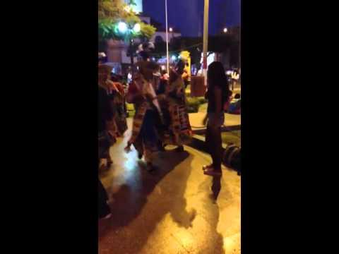 Children are dancing in Nasca, Peru (видео)