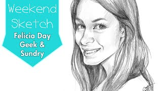 Felicia Day from Geek & Sundry - Time Lapse Fan Art Portrait