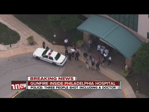 shooting - Police in suburban Philadelphia are investigating a shooting at a hospital campus.