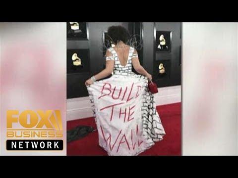 Joy Villa wears Trump 'Build The Wall' dress to Grammys