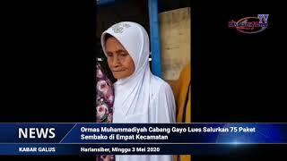Ormas Muhammadiyah Cabang Gayo Lues Salurkan Bantuan 75 Paket Sembako di Empat Kecamatan (HARIANSIBER TV)