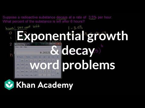 exponential growth decay word problems video khan academy. Black Bedroom Furniture Sets. Home Design Ideas