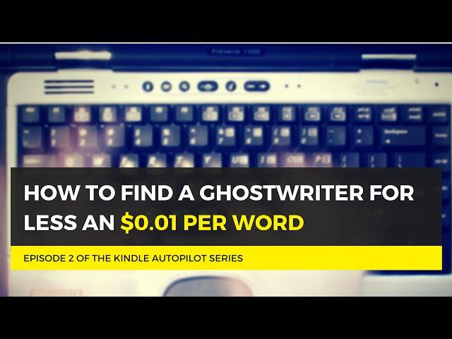 Finding a ghostwriter