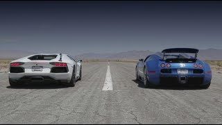 Bugatti Veyron vs Lamborghini Aventador vs Lexus LFA vs McLaren MP4-12C - Head 2 Head Episode