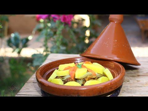 Tajine marocain vert aux Courgette