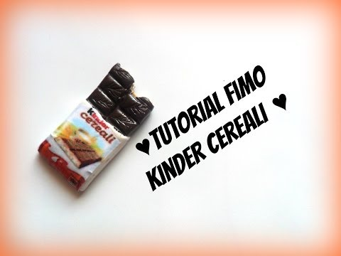 tutorial fimo - kinder cereali