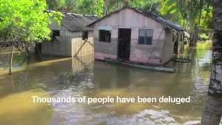 Helping people hit by flooding in Brazil