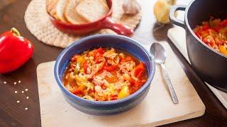 Ragoût hongrois aux poivrons et à la saucisse letc