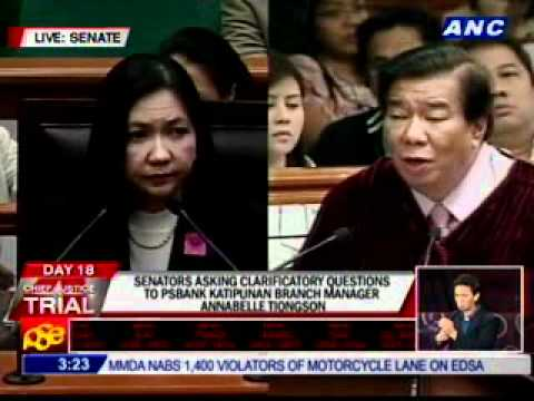 Estrada: You stand by your answer that these docs are fake? Tiongson: Yes