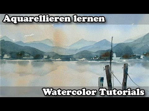 Aquarell: Farb u. Luftperspektive ganz einfach!
